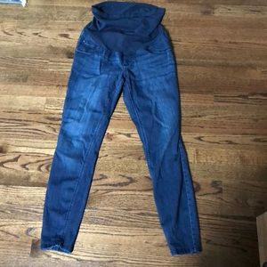 Indigo blue - maternity jeans size small